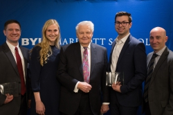 The winners of the Bateman Awards pose with Merrill J. Bateman