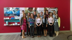 The first group of interns at Cardinal Health headquarters