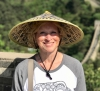 Cindy Blair walking on the Great Wall of China