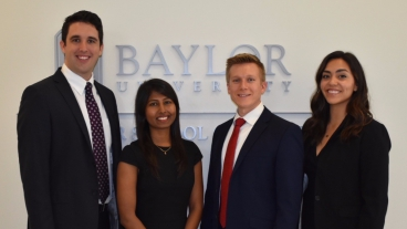 Student team from BYU at Baylor University.