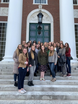 BYU Marriott students pose for a picture at Harvard University.