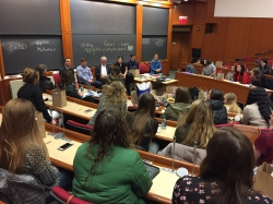 Students from all over the country attend a class at the Harvard Business School Dynamic Women in Business Conference.