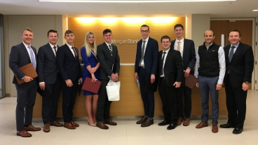 BYU Real Estate Club visiting Morgan Stanley offices in San Francisco.