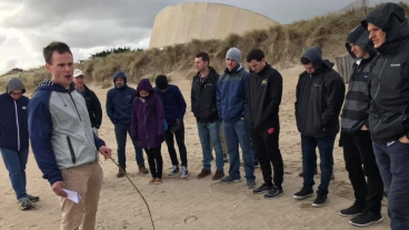 BYU Army ROTC cadets at Normandy Beach