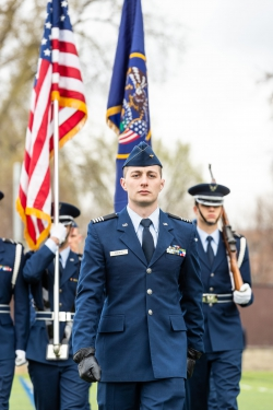 Recently commissioned Air Force officer Jacob Andrus