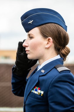 Detachment 855's new wing commander Sydney Clark