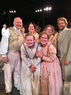 Jeff Thompson and his family at the Nauvoo Pageant. Photo courtesy of Jeff Thompson.