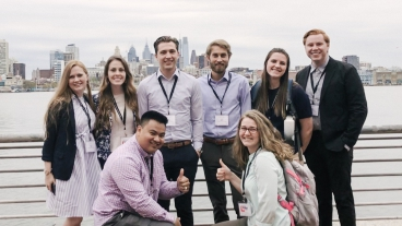 BYU information systems students traveled to Philadelphia to compete at the Annual Association for Information Systems Student Chapter Leadership Conference.