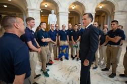 Detachment 855 met with Mitt Romney, United States senator, in Washington, DC.