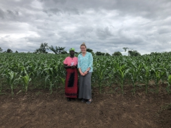 Heather Hammond Cruz with a woman in Malawi