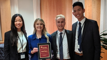 Four BYU Marriott Students won 2nd Place