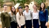 Members of the Women's Empowerment Research team. From left to right: Amanda Boekweg, Katie Morgan, Lilli Sanders, Sarah Agate, Carly Ames, and Julia Hubbert.