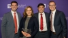 (From Left) Jordon Patton, Whitney Waite, Neal Ball, and Jaron Thornley accept the TCU graduate supply chain case competition second place award.