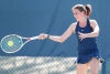 Hailey Krey playing tennis