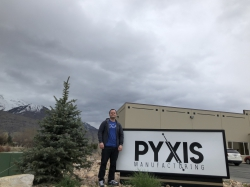 Quarnberg in front of his business, Pyxis Manufacturing. Photo courtesy of Daniel Quarnberg.