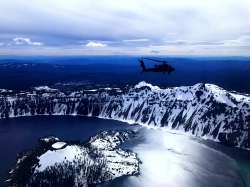 The view while Trevor Findlay flew an AH-64 Apache helicopter.