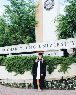 MacLennan recently graduated with her MBA from BYU Marriott in 2020. Photo courtesy of Carly MacLennan.