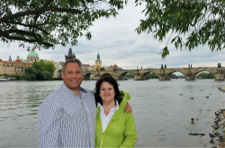 Maylett and his wife in Prague on one of their trips to Europe
