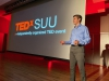 Austin Henline speaking at the TEDx SUU event