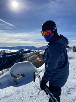 Parker Stohlton is an avid skier and loves to spend his free time on the slopes. Photo courtesy of Parker Stohlton.